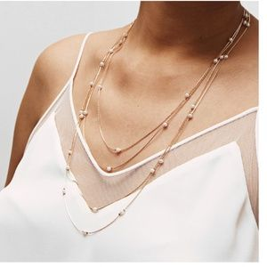 "UO Boho ""Pearls of Wisdom"" Indie Layered Necklace"